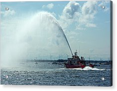 Tampa Fire Rescue Boat Acrylic Print by Paul Wash