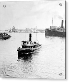 Tampa Florida - Harbor - C 1926 Acrylic Print by International  Images