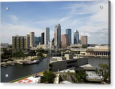 Tampa Florida Landscape Acrylic Print by David Lee Thompson