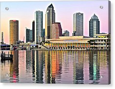 Tampa In Vivid Color Acrylic Print by Frozen in Time Fine Art Photography