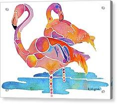 Tampa Nic Flamingos Acrylic Print