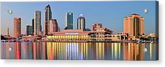 Tampa Panoramic View Acrylic Print by Frozen in Time Fine Art Photography