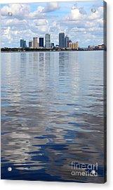Tampa Skyline Over The Bay Acrylic Print