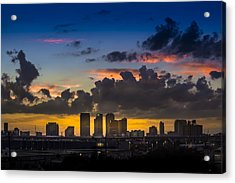Tampa Sunset Acrylic Print by Marvin Spates