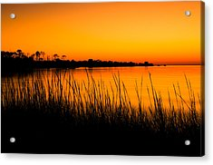 Tangerine Sunset Acrylic Print by Rich Leighton