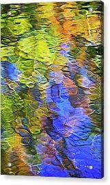 Tangerine Twist Mosaic Abstract Art Acrylic Print by Christina Rollo