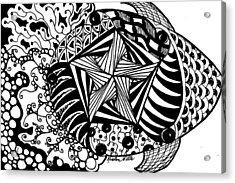 Tangle Fish Acrylic Print by Kristen Watts