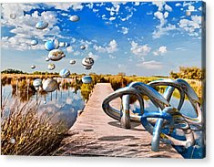 Tangle On The Boardwalk - Something's Not Right Acrylic Print