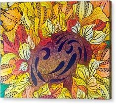 Tangled Sunflower Acrylic Print