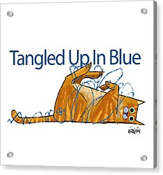 Tangled Up In Blue Acrylic Print by Trevor Irvin