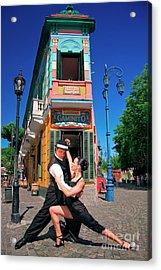 Acrylic Print featuring the photograph Tango At Caminito by Bernardo Galmarini
