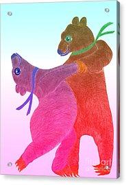 Tango Bears Acrylic Print by Tess M J Iroldi