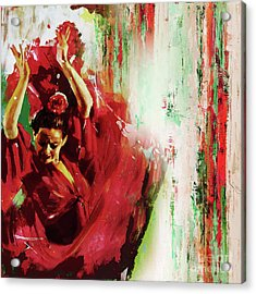 Acrylic Print featuring the painting Tango Dance 45g by Gull G