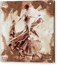 Acrylic Print featuring the painting Tango Dance 9910j by Gull G