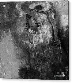 Tango Dancers 01 Acrylic Print by Gull G