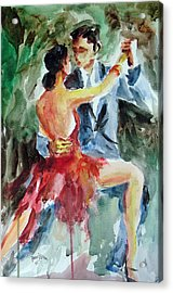 Acrylic Print featuring the painting Tango In The Night by Faruk Koksal