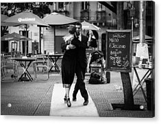 Tango In The Plaza Acrylic Print
