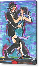Tango J Acrylic Print by Mary Armstrong
