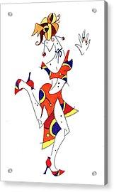 Tango Lessons - Woman Shoes - Dancing Illustration Acrylic Print by Arte Venezia