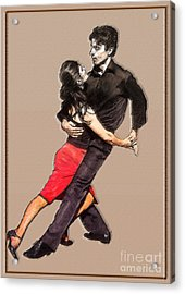 Tango Acrylic Print by Linda  Parker