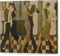 Acrylic Print featuring the painting Tango Night by Glenn Quist