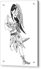 Tango Nuevo - Woman Step Colgada Acrylic Print by Arte Venezia