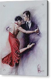Tango Quartet 4/4 Acrylic Print by Alan Kirkland-Roath