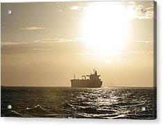 Tanker In Sun Acrylic Print