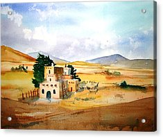 Taos Adobe Acrylic Print