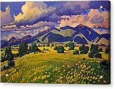 Taos Fields Of Yellow Acrylic Print