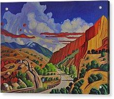 Taos Gorge Journey Acrylic Print