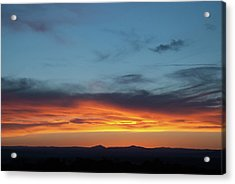 Taos Mesa Sunset Acrylic Print