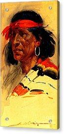Taos Pueblo Indian Circa 1918 Acrylic Print