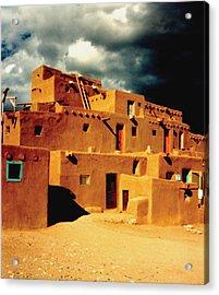 Taos Pueblo Acrylic Print by Kathleen Stephens