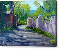 Acrylic Print featuring the painting Taos Shadows by Fred Wilson