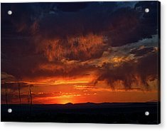 Taos Virga Sunset Acrylic Print