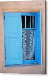 Taos Window Acrylic Print by Diana Davenport
