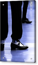 Tap Dance In Blue Are Shoes Tapping In A Dance Academy Acrylic Print
