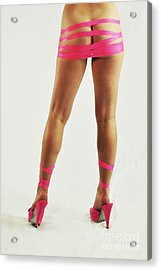 Tape And Heels Acrylic Print