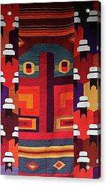 Andean Fabric Acrylic Print by Aidan Moran