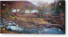 Acrylic Print featuring the photograph Tapoco Lodge by Debra and Dave Vanderlaan