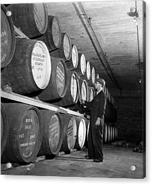 Tapping Casks Acrylic Print by George Konig