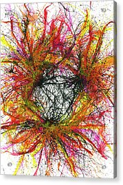 Tapping In To The Energy Fields Of Life #643 Acrylic Print by Rainbow Artist Orlando L aka Kevin Orlando Lau