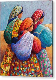 Tarahumara Women Acrylic Print by Candy Mayer