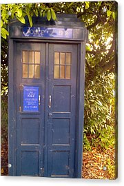 Tardis Acrylic Print by Julie Butterworth