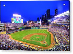 Target Field At Night Acrylic Print by Shawn Everhart