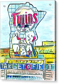 Target Field  Acrylic Print by Matt Gaudian