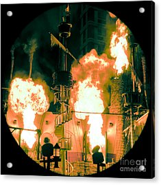 Target In Flames Acrylic Print by Andy Smy