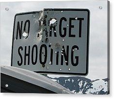 Target Shooting  Acrylic Print