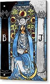 Tarot Gold Edition - Major Arcana - The High Priestess Acrylic Print
